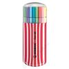 STABILO Rostirón készlet, 1 mm, piros tok, STABILO Pen 68 Zebrui, 20 különböző szín (TST682015)