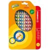 """STABILO Színes ceruza készlet, háromszögletű, balkezes,  """"EasyColours"""", 12 különböző szín"""