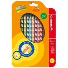 """STABILO Színes ceruza készlet, háromszögletű, balkezes,  """"EasyColours"""", 12 különböző szín színes ceruza"""