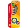 """STABILO Színes ceruza készlet, háromszögletű, jobbkezes,  """"EasyColours"""", 6 különböző szín"""
