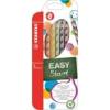 """STABILO Színes ceruza készlet, háromszögletű, jobbkezes, STABILO \""""EasyColours\"""", 6 különböző szín [6 db]"""
