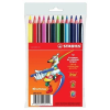 """STABILO Színes ceruza készlet, háromszögletű, vastag, STABILO """"Trio"""", 12 különböző szín (TST20312)"""