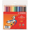 STABILO Színes ceruza készlet, háromszögletű, vastag, STABILO Trio, 18 különböző szín (TST20318)