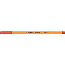 "STABILO Tűfilc, 0,4 mm, STABILO ""Point 88"", világos piros filctoll, marker"