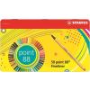 """STABILO Tűfilc készlet, 0,4 mm, fém doboz, STABILO """"Point 88"""", 47+3 különböző szín (TST88506)"""
