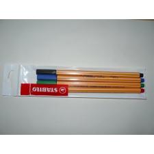 """STABILO Tűfilc készlet, 0,4 mm, STABILO """"Point 88"""", 4 különböző szín filctoll, marker"""