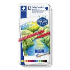 """STAEDTLER Akvarell ceruza készlet, fém doboz, hatszögletű,  """"Design Journey"""", 12 különböző szín akvarell"""
