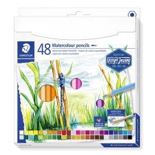 """STAEDTLER Akvarell ceruza készlet, hatszögletű, STAEDTLER """"Design Journey"""", 48 különböző szín ceruza"""