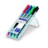"""STAEDTLER Alkoholos marker készlet, OHP, 0,6 mm, STAEDTLER \""""Lumocolor 318 F\"""", 4 különböző szín [4 db]"""