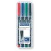 """STAEDTLER Alkoholos marker készlet, OHP, 1 mm, STAEDTLER \""""Lumocolor 317 M\"""", 4 különböző szín [4 db]"""