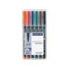 """STAEDTLER Alkoholos marker készlet, OHP, 1 mm, STAEDTLER \""""Lumocolor 317 M\"""", 6 különböző szín [6 db]"""