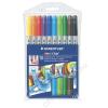 STAEDTLER Filctoll készlet, 1-3 mm, kétvégű, kimosható, STAEDTLER Noris Club, 10 különböző szín (TS320NWP10)