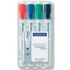 """STAEDTLER """"Lumocolor 351"""" 2 mm kúpos 4 különböző színű táblamarker készlet"""