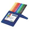 """STAEDTLER Színes ceruza készlet, háromszögletű, STAEDTLER """"Ergo Soft Box"""", 12 különböző szín"""