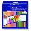"""STAEDTLER Színes ceruza készlet, háromszögletű, STAEDTLER """"Noris Club"""", 24 különböző szín"""