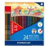 """STAEDTLER Színes ceruza készlet, hatszögletű,  """"Noris Colour"""", 20+4 különböző szín"""