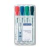 """STAEDTLER Táblamarker készlet, 2 mm, kúpos, STAEDTLER """"Lumocolor 351"""", 4 különbözo szín (4 db)"""