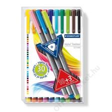 STAEDTLER Tűfilc készlet, 0,3 mm, STAEDTLER Triplus Box, 10+3 különböző szín (TS334TB13) filctoll, marker