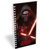 Star Wars Irodai spirálfüzet, kockás [27-70], A5, 70 lap, STAR WARS 7 - Kylo Ren