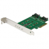 Startech 3PT M.2 SSD CARD - PCIE 3.0 SATA CONTROLLER CARDS