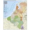 Stiefel Eurocart Kft. Benelux államok irányítószámos térképe, fémléces