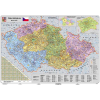 Stiefel Eurocart Kft. Csehország irányítószámos térképe fóliás-fémléces