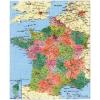 Stiefel Eurocart Kft. Franciaország megyéi és postai irányítószámos térképe, tűzhető, keretes