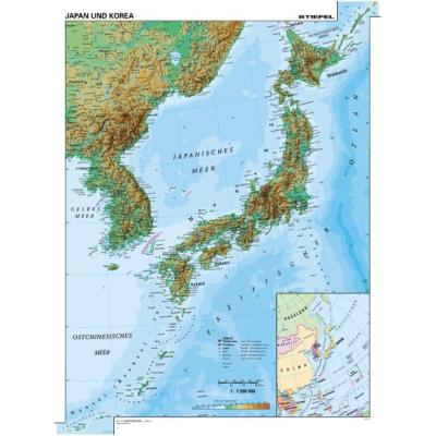 japán domborzati térkép Stiefel Eurocart Kft. Japán és Korea, domborzati (angol v. német  japán domborzati térkép