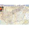 Stiefel Eurocart Kft. Magyarország autótérképe járáshatárokkal falitérkép fémléces