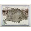 Stiefel Eurocart Kft. Magyarország hegyrajzi és vízrajzi térképe (Pokorny Tódor, 1899) 3D dombortérkép