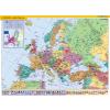 Stiefel Európa országai és az Európai Unió térképe fémléces