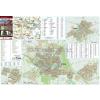 Stiefel Gyula-Sarkad-Elek térkép, keretezett, tűzhető