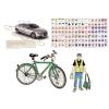 """Stiefel Könyökalátét, kétoldalas, A3,  """"Kerékpáros túlélés tízparancsolata"""""""