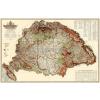 Stiefel Magyarország erdészeti térképe fóliázott, lécezett