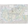 Stiefel Magyarország Fürdőtérképe keretezett, tűzhető