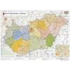 Stiefel Magyarország közigazgatása a járásokkal - modern színezéssel
