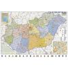 Stiefel Magyarország közigazgatása keretezett, tűzhető térkép