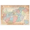 Stiefel Magyarország közigazgatása különleges színezésű keretezett falitérkép