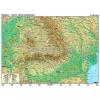 Stiefel Románia domborzati térképe + vaktérkép DUO (román nyelvű)