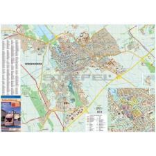 Stiefel Székesfehérvár fémléces térkép térkép