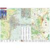 Stiefel Szekszárd és Szekszárdi borvidék térkép fémléces
