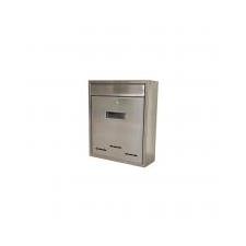 STR postaláda Flatbox rozsdamentes acél 310x260x90 mm kerti dekoráció