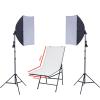 Stúdió Eszközök Tárgyfotó szett 2x135W softbox, 100X60cm tárgyasztal