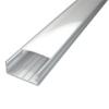 Surface-3 profil eloxált, LED szalaghoz, átlátszó burával