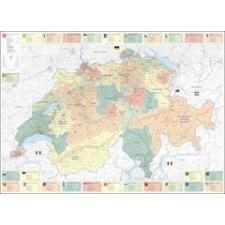 Svájc közigazgatása falitérkép - Kümmerly+Frey térkép