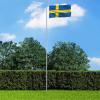 Svéd zászló alumíniumrúddal 6,2 m