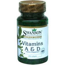 Swanson A és D vitamin halolajból lágyzselatin kapszula 250db vitamin