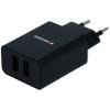 Swissten hálózati adapter SMART IC 2.1A + kábel USB-C 1,2m fekete