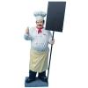 Szakács-táblával/180 cm/laminált/fehér inges-bajuszos
