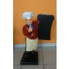Szakács-táblával/ 75 cm/bordó inges-bajusz nélküli
